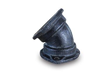 柔性铸铁排水管配件-B型45度弯头